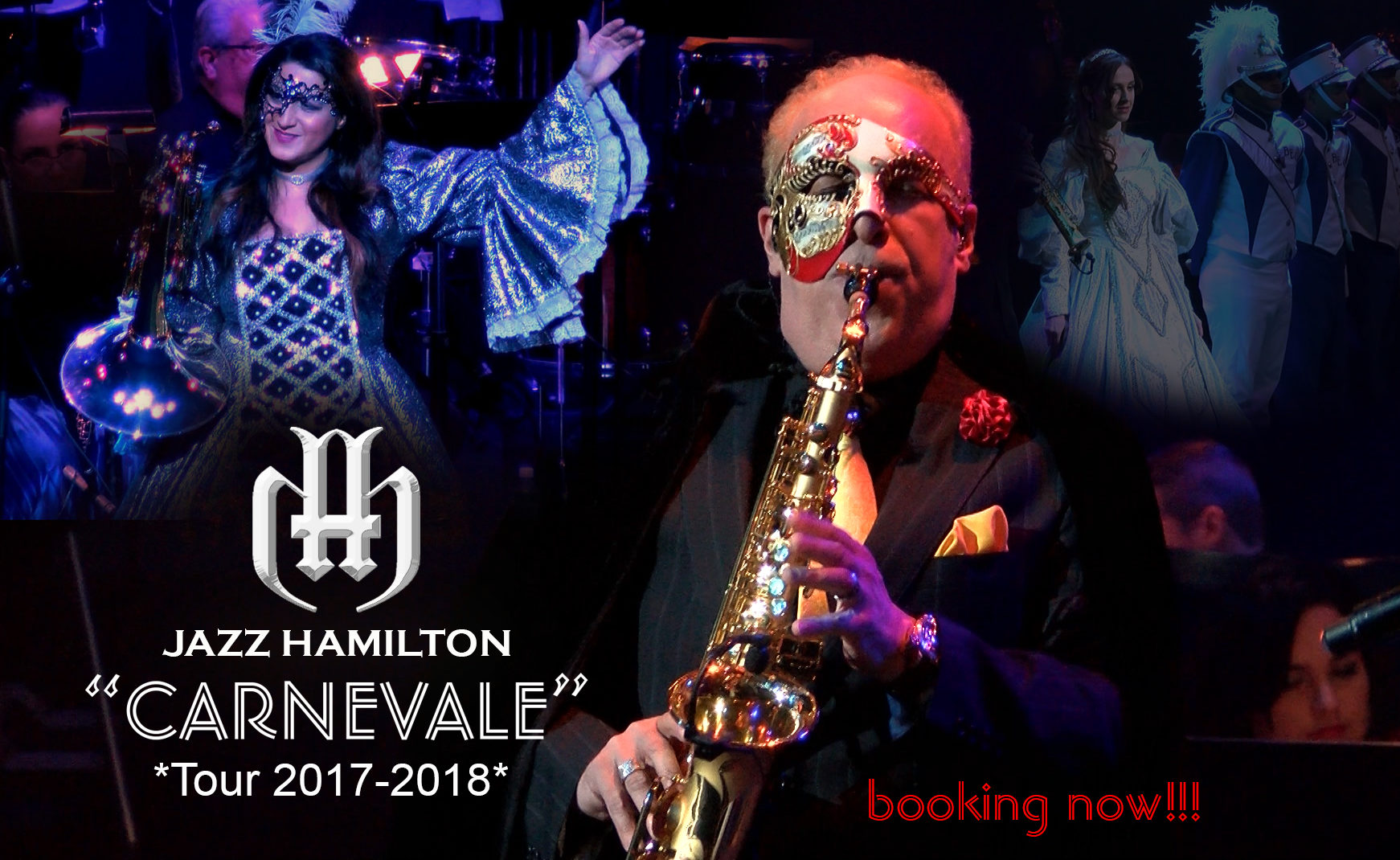 Jazz Hamilton CARNEVALE TOUR 2017-2018 booking now