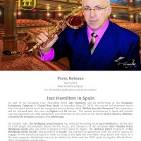 JAZZ HAMILTON IN SPAIN FOR THE EURSAX