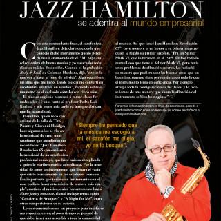JAZZ HAMILTON SAXOPHONES featured in Imagen Magazine