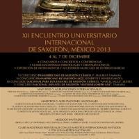 XII Encuentro Internacional Del Saxofon Mexico 2013