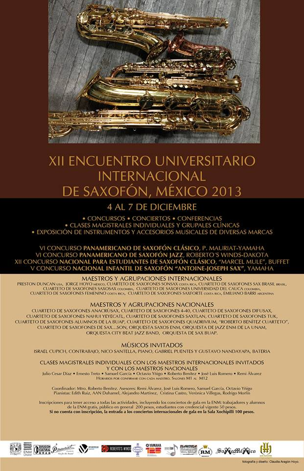 XII Mexico International Sax 2013